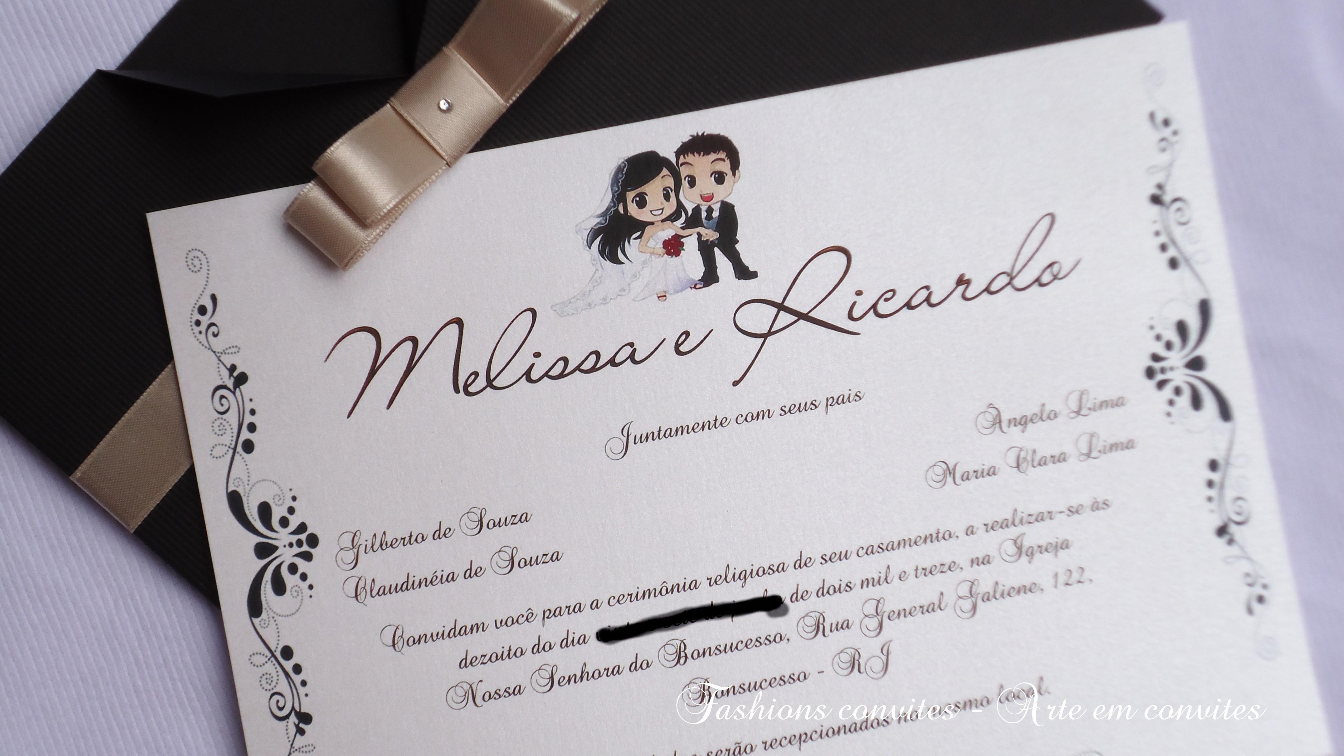 Convite De Casamento Blog Wm Jóias